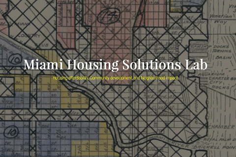 Miami Housing Solutions Lab landing page.