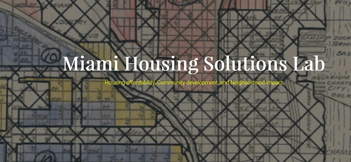 Miami Housing Solutions Lab homepage